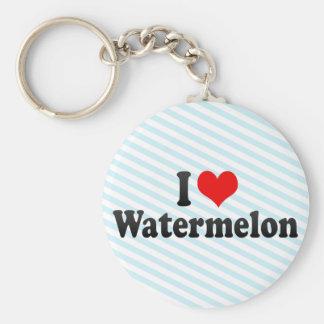 I Love Watermelon Keychain