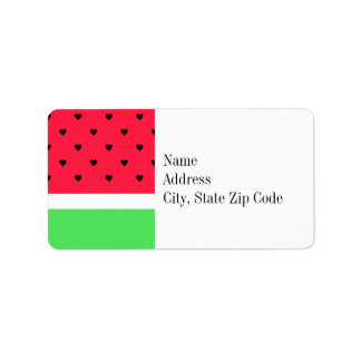 I Love Watermelon Label