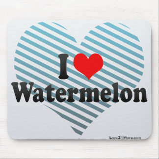 I Love Watermelon Mouse Pad