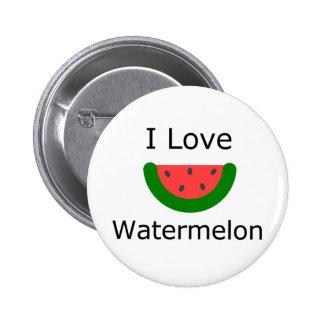 I Love Watermelon Pinback Button