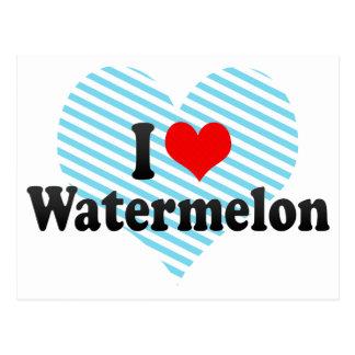 I Love Watermelon Postcard