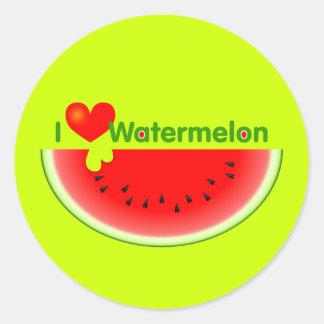 I Love Watermelon Sticker