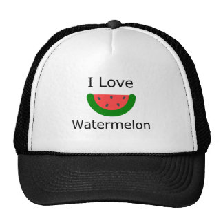 I Love Watermelon Trucker Hat