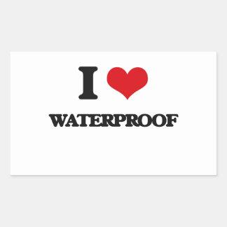 I love Waterproof Rectangular Sticker