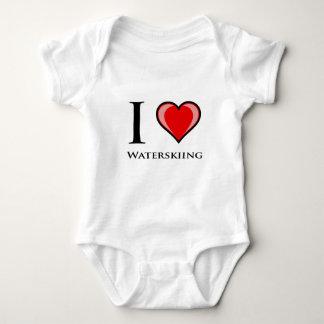 I Love Waterskiing Baby Bodysuit