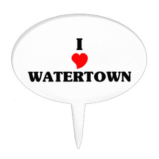 I love Watertown Ma Cake Toppers