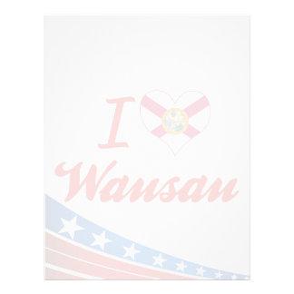 I Love Wausau, Florida Customized Letterhead