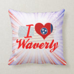 I Love Waverly, Tennessee Pillows