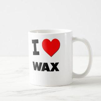 I love Wax Classic White Coffee Mug
