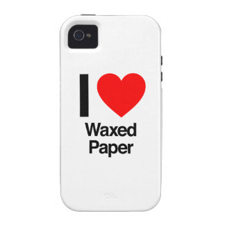 i love waxed paper vibe iPhone 4 cases