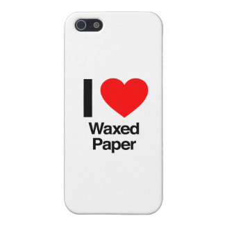 i love waxed paper iPhone 5/5S cover