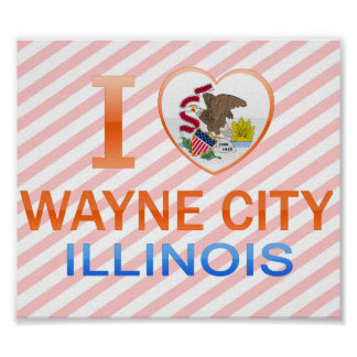 I Love Wayne City, IL Print