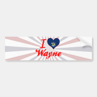 I Love Wayne Maine Bumper Stickers