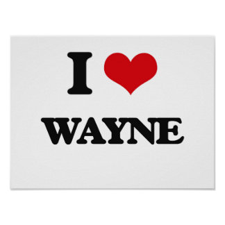 I Love Wayne Poster