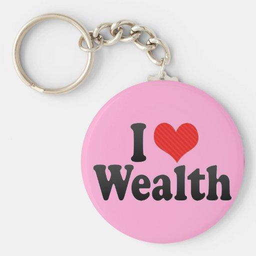 I Love Wealth Key Chains