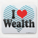I Love Wealth Mouse Pads