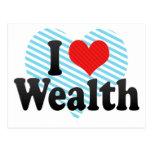 I Love Wealth Postcard