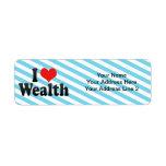 I Love Wealth Return Address Labels