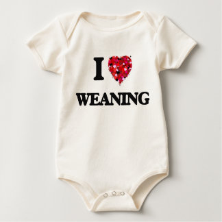 I love Weaning Baby Bodysuits