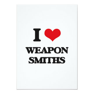 I love Weapon Smiths Personalized Invitation