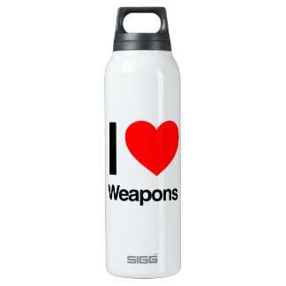 i love weapons 16 oz insulated SIGG thermos water bottle