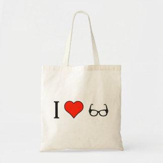 I Love Wearing Girly Eyeglasses Tote Bag