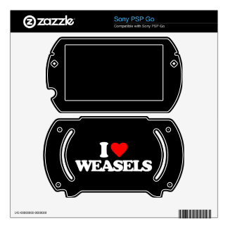 I LOVE WEASELS DECAL FOR SONY PSP GO