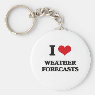 I Love Weather Forecasts Keychain