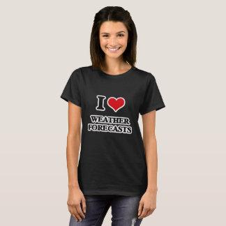 I Love Weather Forecasts T-Shirt