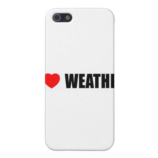 I Love Weather iPhone 5 Cover