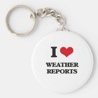 I Love Weather Reports Keychain