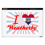 I Love Weatherby, Missouri Decal For Laptop