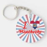 I Love Weatherby, Missouri Key Chain