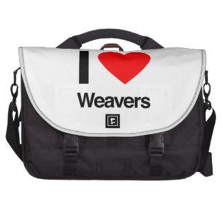 i love weavers computer bag