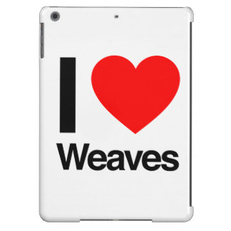 i love weaves iPad air cover