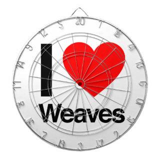 i love weaves dartboard