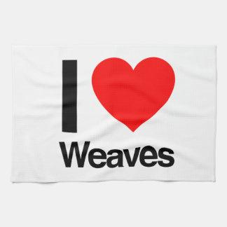 i love weaves hand towel