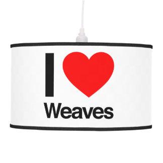 i love weaves hanging lamp