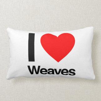 i love weaves pillow