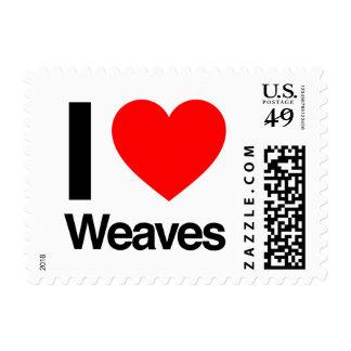 i love weaves postage stamp