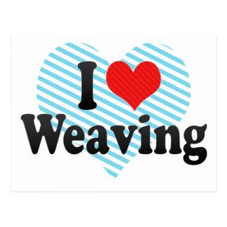 I Love Weaving Postcards