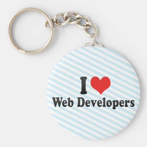 I Love Web Developers Basic Round Button Keychain