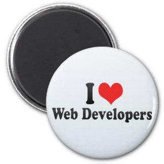 I Love Web Developers Refrigerator Magnets