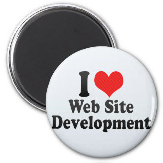 I Love Web Site Development Refrigerator Magnet
