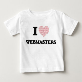 I love Webmasters (Heart made from words) T-shirt