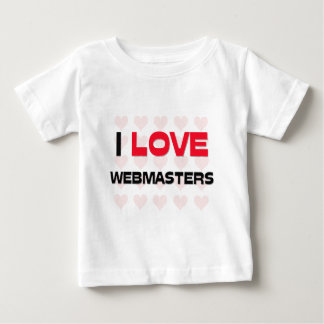 I LOVE WEBMASTERS T SHIRT