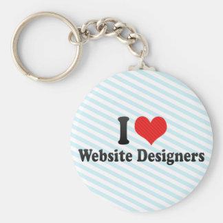 I Love Website Designers Keychain