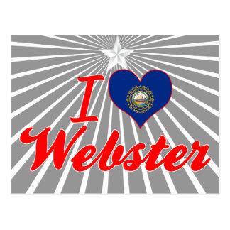 I Love Webster, New Hampshire Postcard