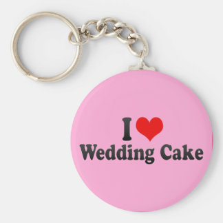 I Love Wedding Cake Keychains