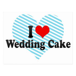 I Love Wedding Cake Postcard